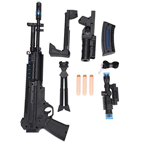 Tbest Kinder Spielzeug Gewehr Spielzeugpistole mit Licht Blitz und Soundeffekten,Leuchten Sie Maschinengewehr, Kinder elektrisches Licht abnehmbare Simulation Verformung weiche Kugelgewehr