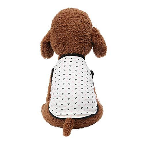 Hawkimin Kleidung Hund Haustier Frühling und Sommer Breathable Cute Love Print Weste Hund Katze dünne Kleidung -