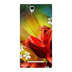 Cute Beauty Flowers Print Back Case Cover for Sony Xperia C3