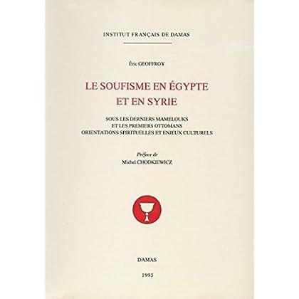 Le soufisme en Égypte et en Syrie: Sous les derniers mamelouks et les premiers ottomans. Orientations spirituelles et enjeux culturels (Études arabes, médiévales et modernes)