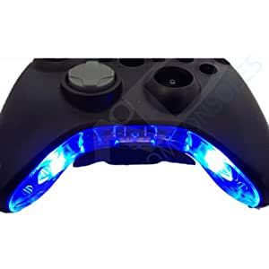 Xbox 360 Pre-Wired Controller Bowtie / Mic Piece Led Mod (Blue) by JMODSCUSTOMCONSOLES