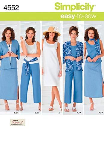 Simplicity 4552 AA - Patrones costura ropa mujer tallas