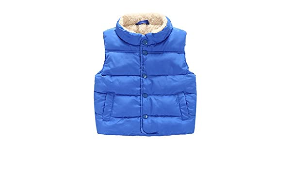 56c056ca625c Taiycyxgan Toddler Kid Boys Girls Winter Fleece Vest High Neck Warm ...
