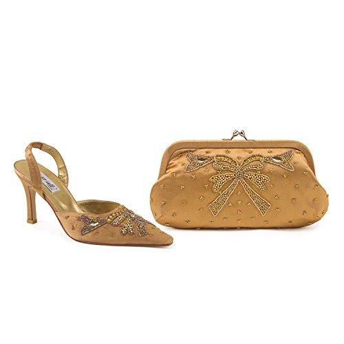 FARFALLA - Scarpe con cinturino alla caviglia donna Bronze
