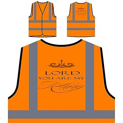 Seigneur, Vous Êtes Mon Roi Veste de protection orange personnalisée à haute visibilité n255vo