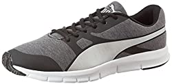 Puma Unisex Flexracer Tm Idp Black and Puma Silver Running Shoes - 8 UK/India (42 EU)