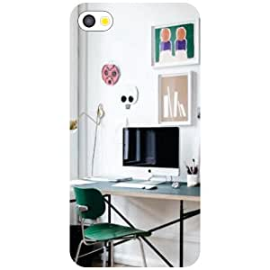 Apple iPhone 4S Office Space Matte Finish Phone Cover