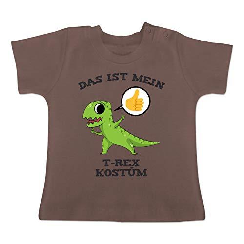 Karneval und Fasching Baby - Das ist Mein T-Rex Kostüm Comic - 18-24 Monate - Braun - BZ02 - Baby T-Shirt Kurzarm