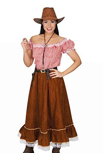 Cowgirl Blusen (Kostüm Cowgirl mit Bluse und Rock 40/42)