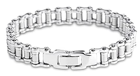 SaySure- Punk Rock Stainless Steel Bicycle Chain Bracelet