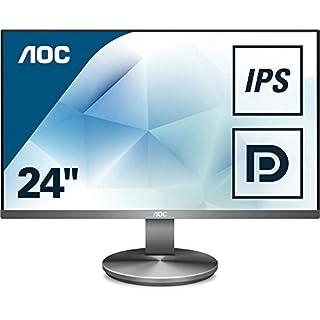 AOC I2490VXQ/BT 23.8-Inch Widescreen IPS LED Multimedia Monitor - Gunmetal