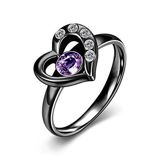 A forma di cuore anelli matrimonio moda donna anniversario, cristalli diamante fidanzamento principessa regalo di gioielli brillante zirconi promessa forever 8 1