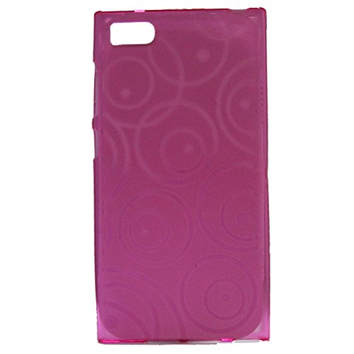 Jo Jo CIRCLE PRINT SOFT SILICON SHELL BACK CASE COVER FOR Xiaomi Mi3 ROSE PINK