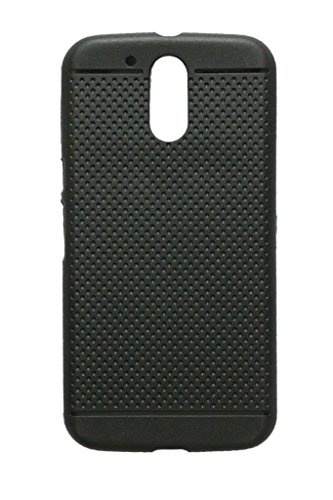 KANICT Exclusive Dotted Matte Finished Soft Rubbersied Back Case Cover for Motorola Moto G4 Plus/G Plus (4th Generation)- Black