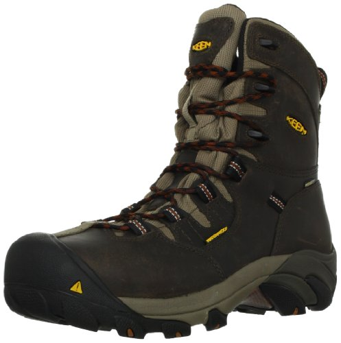 Keen Utility Men's Detroit 8 Steel Toe Work Boot,Black Olive/Brindle,12 D US (Keen-herren-detroit)