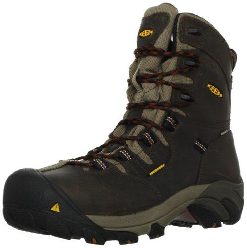 Keen Utility Men's Detroit 8 Steel Toe Work Boot,Black Olive/Brindle,11.5 D US Black Steel Toe Work Boot