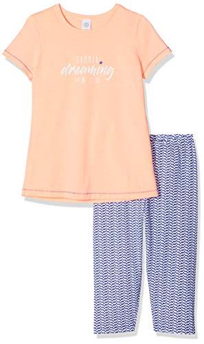 Sanetta Mädchen Pyjama Short Zweiteiliger Schlafanzug, Rosa (Neon Melon 38053), 152 -