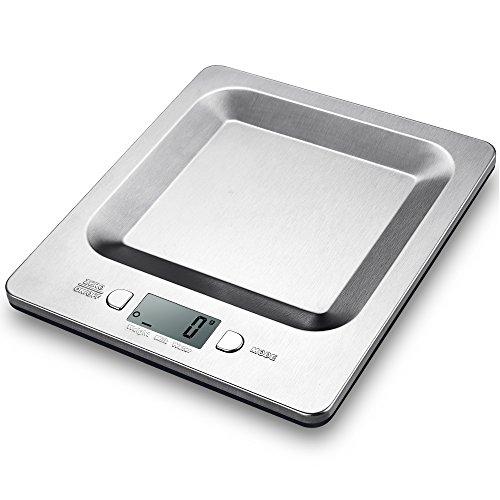 Bilancia da cucina Topop che riesce a pesare fino a 5Kg, è digitale con display LCD in acciaio inossidabile
