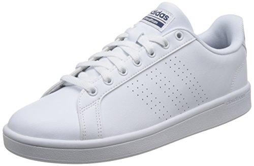 adidas Herren Cloudfoam Advantage Sneaker, Weiß (Footwear White/footwear White/collegiate Navy), 43 1/3  EU