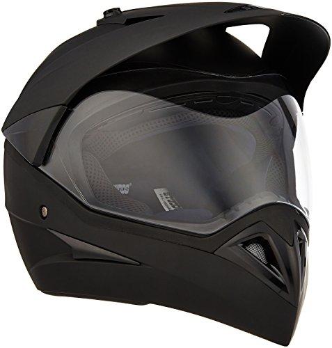 Studds Motocross Plain SUS_MVPFFH_MBLKL Full Face Helmet with Plain Visor (Matt Black, L)