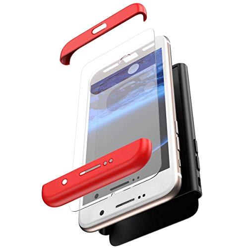 f42172badde Herbests Funda compatible con Huawei P30 Estuche + Película de Protección  de Vidrio Templado Film Carcasa