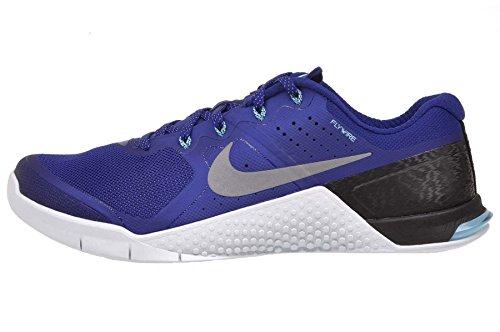 Nike - Metcon 2 Amp Holiday, Scarpe da ginnastica Uomo Blu (Azul (Td Pl Bl / Mtllc Slvr-Ic Cb Bl-B))