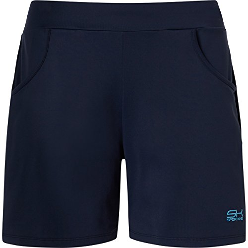 Sportkind Mädchen & Damen Tennis / Fitness / Bermuda Shorts, navy blau, Gr. L
