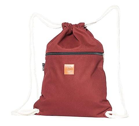 Original ♡ T-BAGS Thailand Turnbeutel Hipster | 18 coole Designs | mit Reißverschluss | Baumwoll Beutel mit hohem Tragekomfort