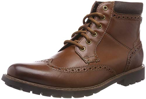 Clarks Herren Curington Rise Chelsea Boots, Braun (Tan Leather), 43 EU -