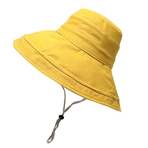 Barlingrock Ladies Two-Sided Bucket Sommer Sonnenhut Faltbare Strandmütze Breiter Krempe Roll-brim Straw