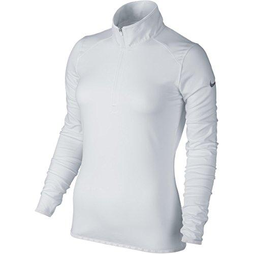 Nike Lucky 1/Azalea 2-zip 2.5Damen Langarm T-Shirt XL weiß (Nike 1 2 Zip)