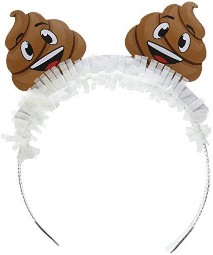 Papier Teller Themed (Creative Converting 3293728-count Tiara Headbands, Poop emojions)