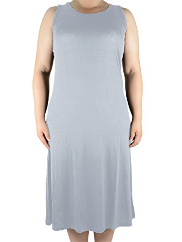 Azue Damen Unterhemd, grau, AUZKBS1807TFB3L (Dress Front Mini Cross Criss)