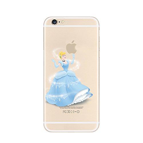 New Disney Prinzessinnen transparent TPU Soft Case für Apple iPhone 4/4S 5/5S 5C 6/6S & 6+ 6+ S * Check Sonderangebot * CINDERELLA1