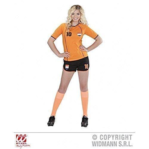 Niederlande Kostüm - Lively Moments Kostüm Fussballspielerin Niederlande / Holland / niederländisches Fußballtrikot / Fankostüm / Fanartikel Gr. M = 38 - 40