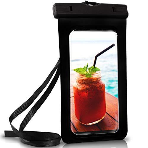 ONEFLOW Wasserdichte Hülle Samsung Galaxy | Full Cover in Schwarz 360° Unterwasser-Gehäuse Touch Schutzhülle Handy-Hülle für S-Reihe S10 S10 Plus S9 S9 Plus S8 S7 S6 S5 UVM. Case Handy-Schutz