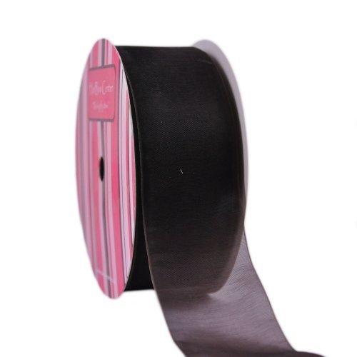 1.5 Brown Sheer Organza Ribbon 50yd by HairBow Center LLC -