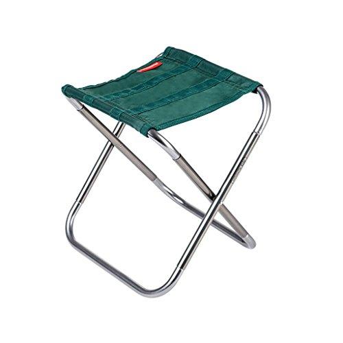 CKH Folding Hocker Portable Outdoor Klappstuhl Angeln Kunst Stuhl Erwachsene Mini Ultra Light Mazar Hocker ( Color : Green )