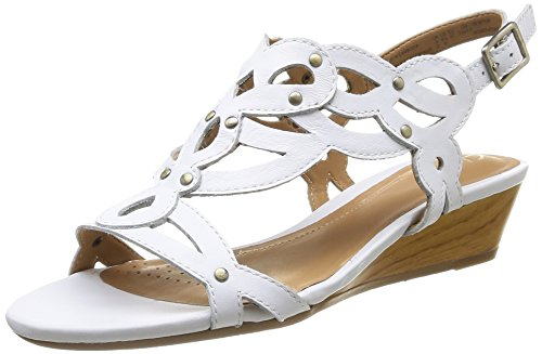 Clarks Playful Tunes, Damen Schnürhalbschuhe Weiß - Blanc (White Leather)