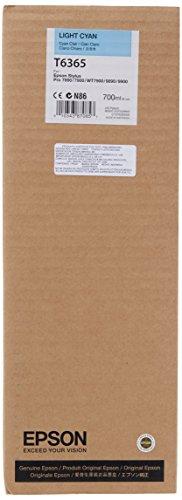 Epson T6365 C13T636500 - Cartouche d'encre d'origine - Cyan Clair (Light Cyan) pour Stylus Pro - 700ml