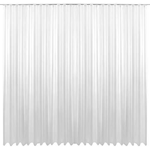 Gardine Kräuselband Transparent 500 x 245 cm (Breite x Länge) in weiß, mit beschwerten Abschlußband