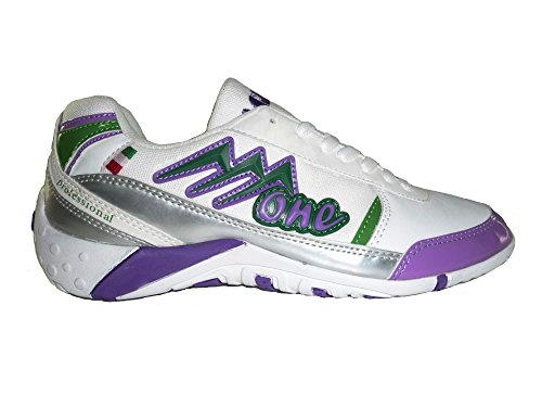 AGLA PROFESSIONAL ONE INDOOR scarpe calcetto futsal calcio a 5 anti-shock system White/Violet