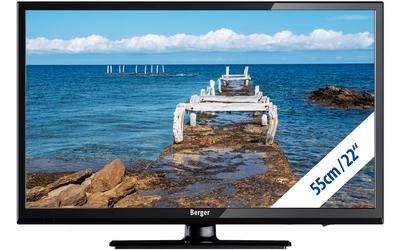 Berger Camping LED TV 22 Zoll Full HD USB DVD Triple Tuner 12V/230V Fernseher für LKW KFZ Wohnmobil Widescreen-1080p-led-hdtv
