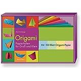 Origami-Set: Papierfalten für Groß und Klein. Buch und 100 Blatt Origami-Papier