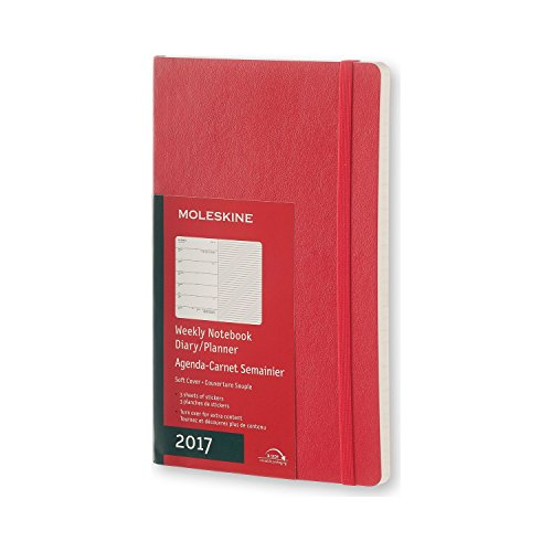 Moleskine DSF212WN3Y17 - Agenda semanal 12 meses, L 13 x 21, color rojo