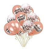 ZSQQSCL Ballons De Décoration pour Fêtes 12 Pouce Dit-Elle Yaaas Lettre Confettis...