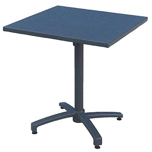 Klapptisch TREVISO anthrazit rund eckig Alu-Gestell klappbar Gartentisch Möbel, Modell / Charakter:Eckig