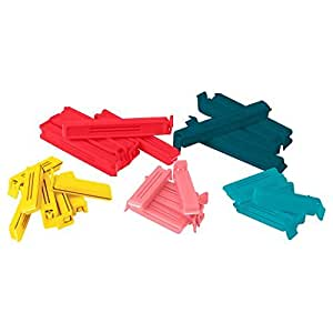 Ikea 0757901195440 BevaraSealing Clips, various sizes, Polypropylene, bright colours 16x 12x 3cm