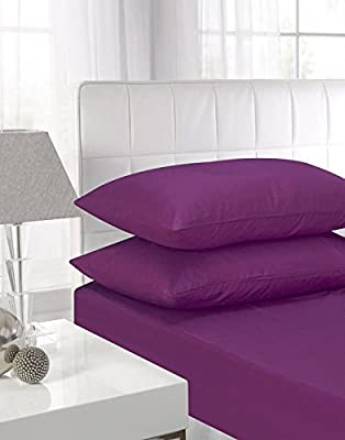 "100% Egyptian Cotton 40CM/16"" Extra Deep Fitted Sheets produced by Luxury Home Collections - quick delivery from UK."