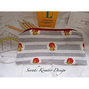 Mäppchen Pumuckl Kobold mit dem roten Haar Streifen-Grau Schulanfang Einschulung Geschenk Schultüte Geburtstag Ostern